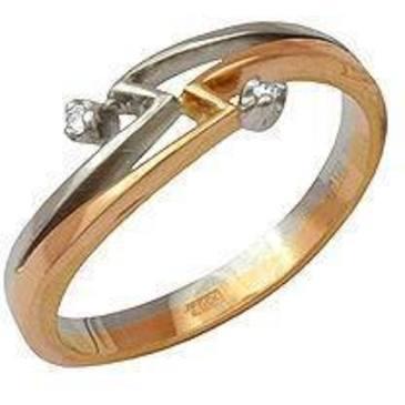 кольцо c бриллиантами из красного золота 12031516