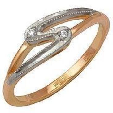 кольцо c бриллиантами из красного золота 12031551