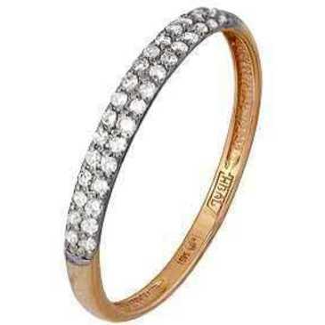 кольцо c бриллиантами из красного золота 11034325