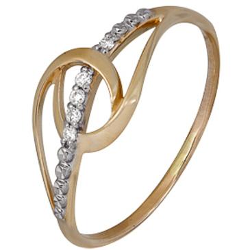кольцо c бриллиантами из красного золота 1001102206