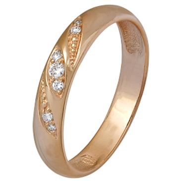 кольцо c бриллиантами из красного золота 1000002412