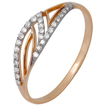 кольцо c бриллиантами из красного золота 1000202292