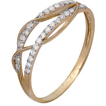 кольцо c бриллиантами из красного золота 1000202306