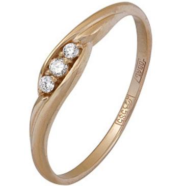 кольцо c бриллиантами из красного золота 11034620