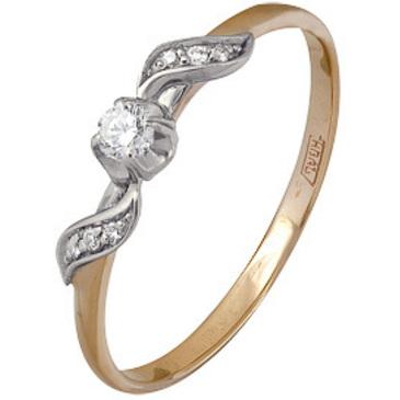 кольцо c бриллиантами из красного золота 12034492