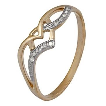 кольцо c бриллиантами из красного золота 1000200676