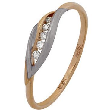 кольцо c бриллиантами из красного золота 11034610