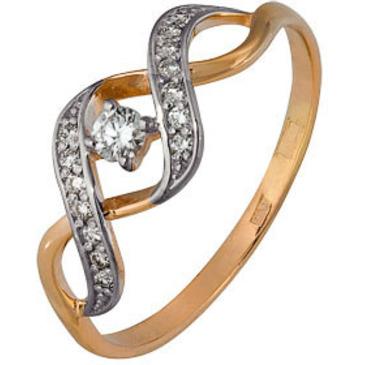 кольцо c бриллиантами из красного золота 1000202661