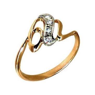 кольцо c бриллиантами из красного золота 1006200103