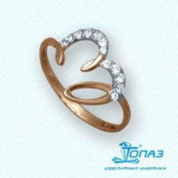 кольцо c бриллиантами из красного золота т14101779