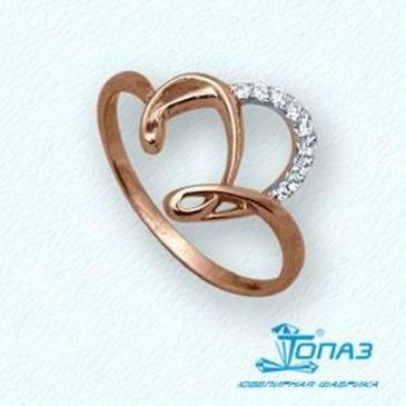 кольцо c бриллиантами из красного золота т14101780
