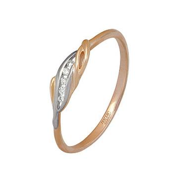 кольцо c бриллиантами из красного золота 11037660