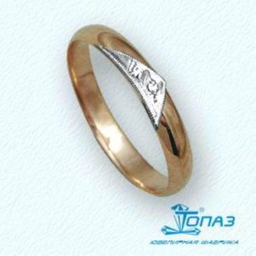 кольцо c бриллиантами из красного золота т13101238