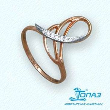 кольцо c бриллиантами из красного золота т13101846
