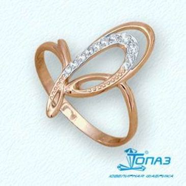 кольцо c бриллиантами из красного золота т14101772