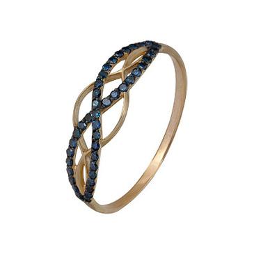 кольцо c бриллиантами из красного золота 1000202294-1-1