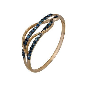 кольцо c бриллиантами из красного золота 1000202306-1-1