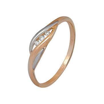 кольцо c бриллиантами из красного золота 11037659