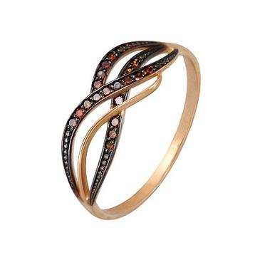 кольцо c бриллиантами из красного золота 1000202293-2-1