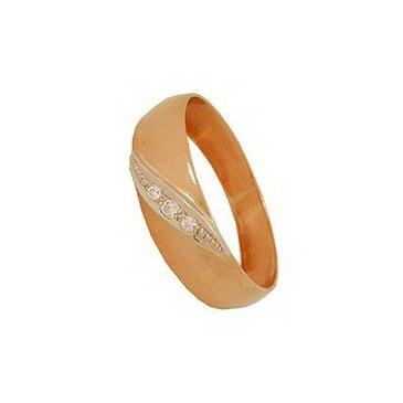 кольцо c бриллиантами из красного золота 1007700316