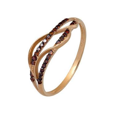 кольцо c бриллиантами из красного золота 1000202306-2-1