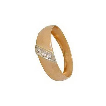 кольцо c бриллиантами из красного золота 1007700281