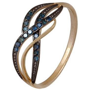 кольцо c бриллиантами из красного золота 1000202293-1-1
