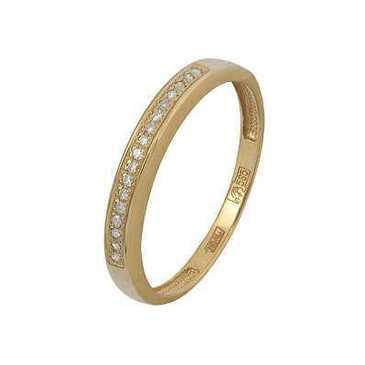 кольцо c бриллиантами из красного золота 11038341