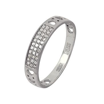 кольцо c бриллиантами из красного золота 13038355