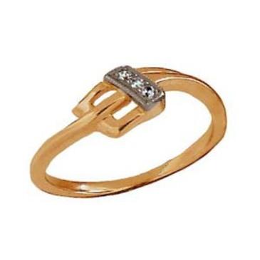 кольцо c бриллиантами из красного золота 1006200101