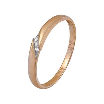 кольцо c бриллиантами из красного золота 11037614