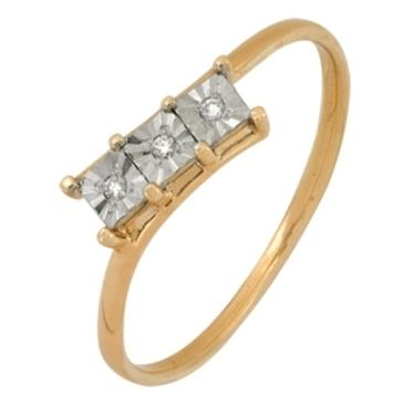 кольцо c бриллиантами из красного золота 1007101718