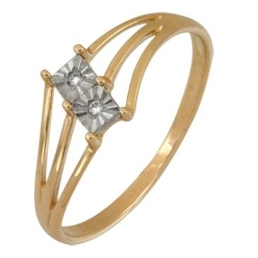 кольцо c бриллиантами из красного золота 1007101719
