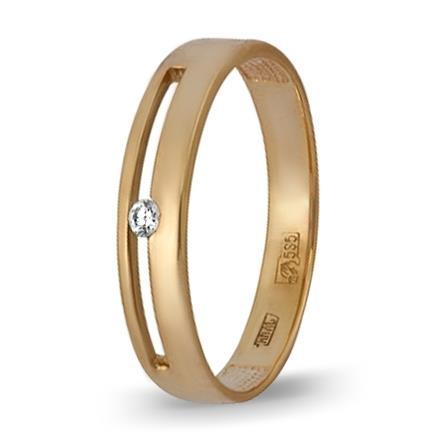 кольцо c бриллиантом из красного золота 11038294