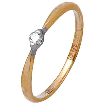 кольцо c бриллиантом из красного золота 12038600