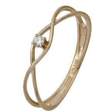 кольцо c бриллиантом из красного золота 11038591