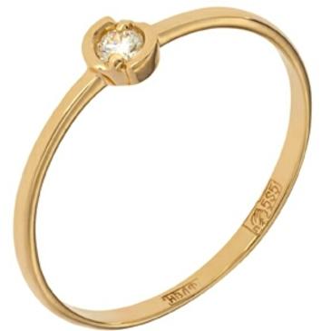 кольцо c бриллиантом из красного золота 11034255