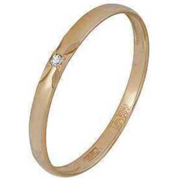 кольцо c бриллиантом из красного золота 11038420