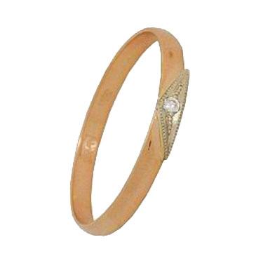 кольцо c бриллиантом из красного золота 1006200277