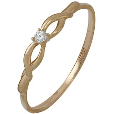 кольцо c бриллиантом из красного золота 11038575