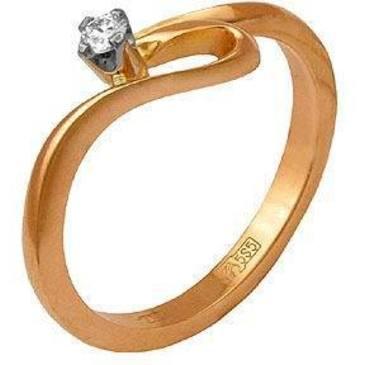 кольцо c бриллиантом из красного золота 12031410