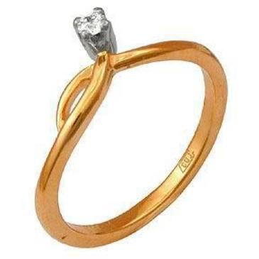 кольцо c бриллиантом из красного золота 12031411