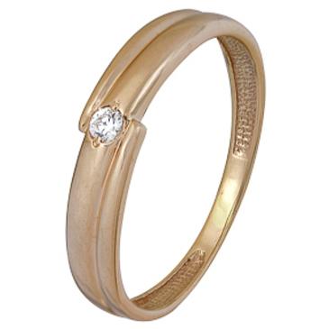 кольцо c бриллиантом из красного золота 1000002394