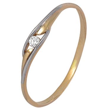 кольцо c бриллиантом из красного золота 1000202382