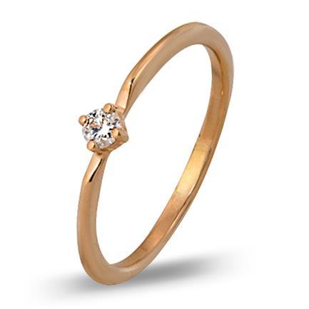 кольцо c бриллиантом из красного золота 1000002608