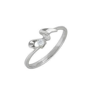 кольцо c бриллиантом из красного золота 11032606