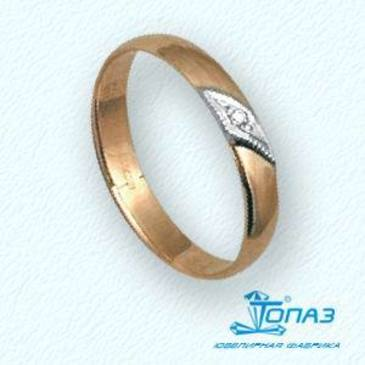 кольцо c бриллиантом из красного золота т13101138