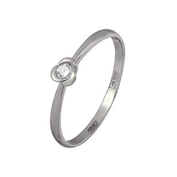 кольцо c бриллиантом из красного золота 13034353