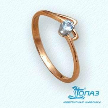 кольцо c бриллиантом из красного золота т13101442