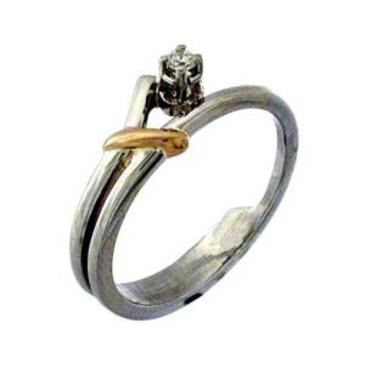 кольцо c бриллиантом из красного золота 1203439